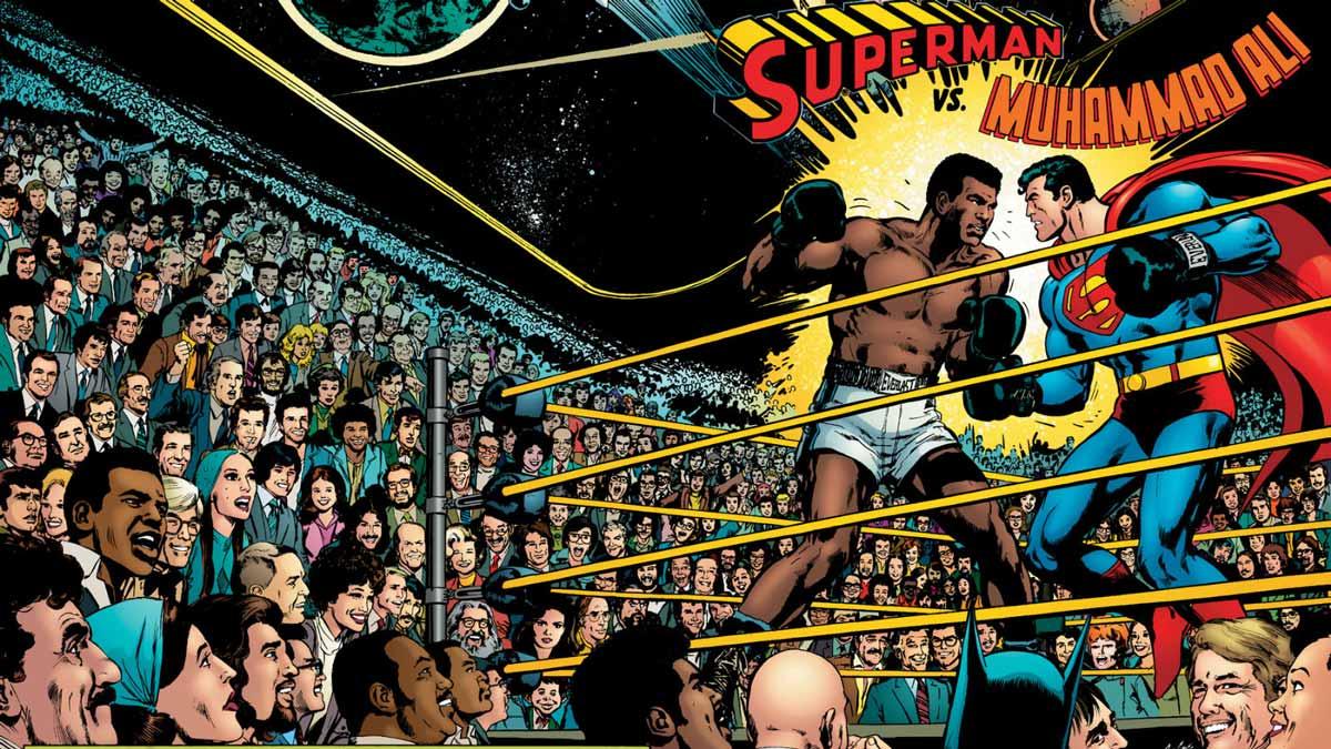 El cómic y su relación con el deporte superman vs mohamed ali