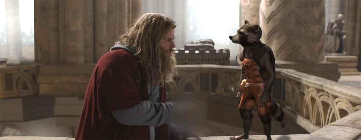 La escena de Vengadores: Endgame de Thor y Rocket que no vimos
