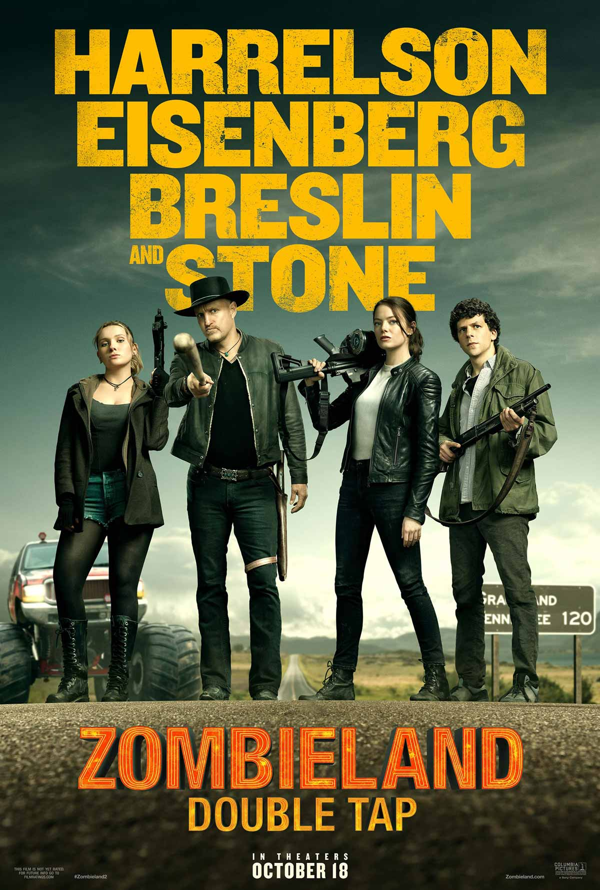 zombieland 2: double tap poster
