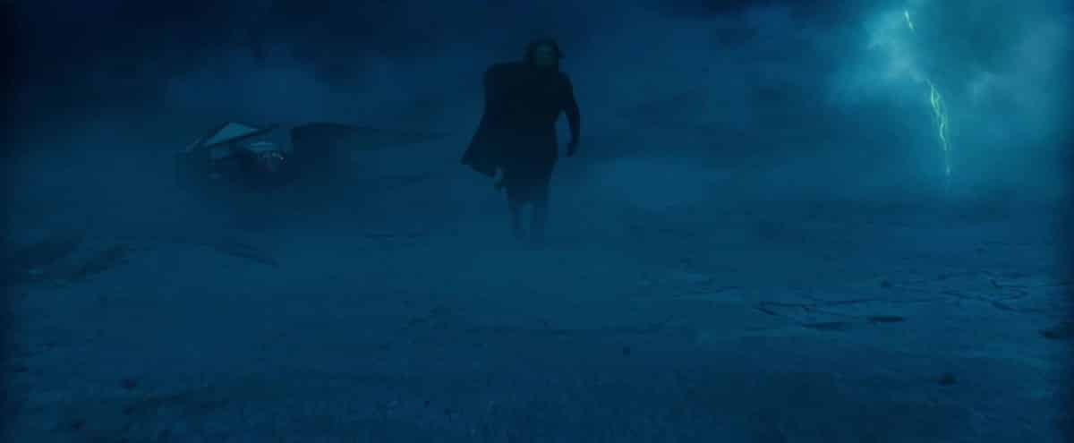 Kylo Ren en una tierra helada