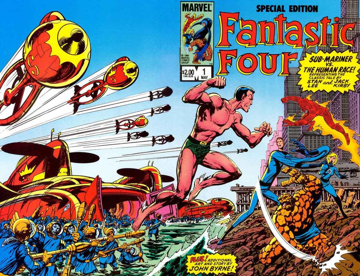 Namor vs Cuatro fantásticos