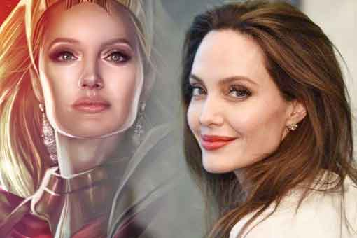 Impactante Fan Art de Angelina Jolie como Thena en Los Eternos