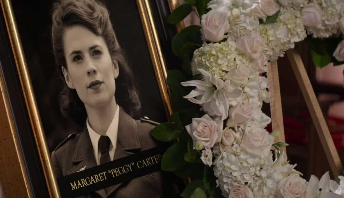 funeral de Peggy Carter en Capitán América: civil war