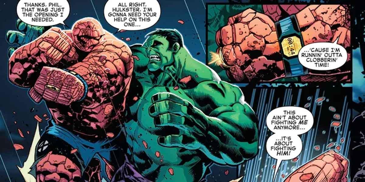 Hulk vs la Cosa: Ya sabemos quien es el más fuerte