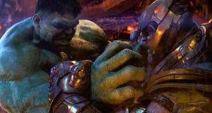 hulk vs thanos en Vengadores: infinity war