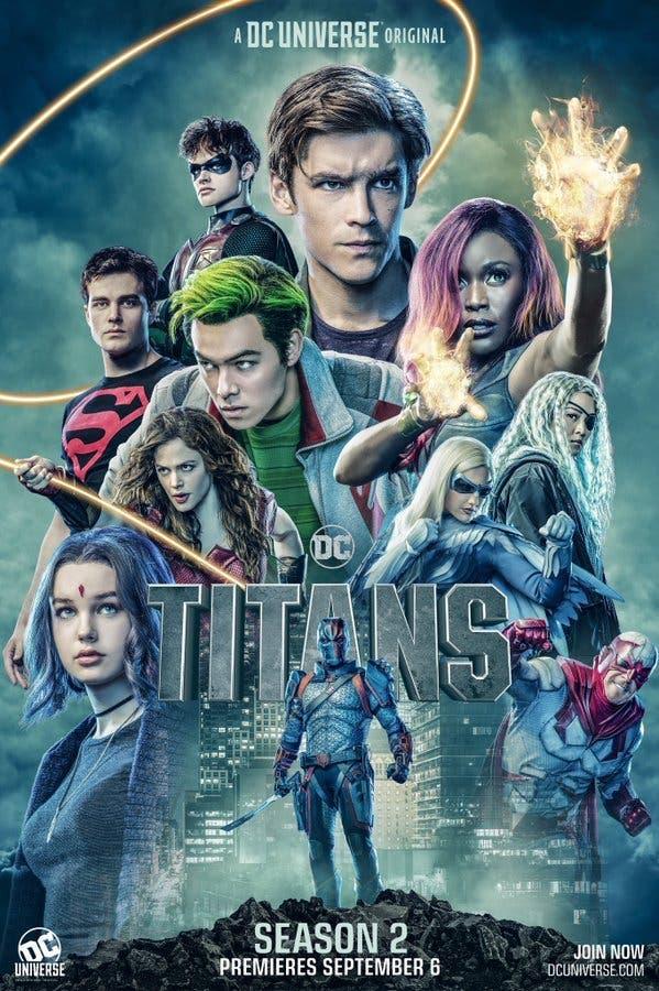 poster titans temporada 2 de DC Comics
