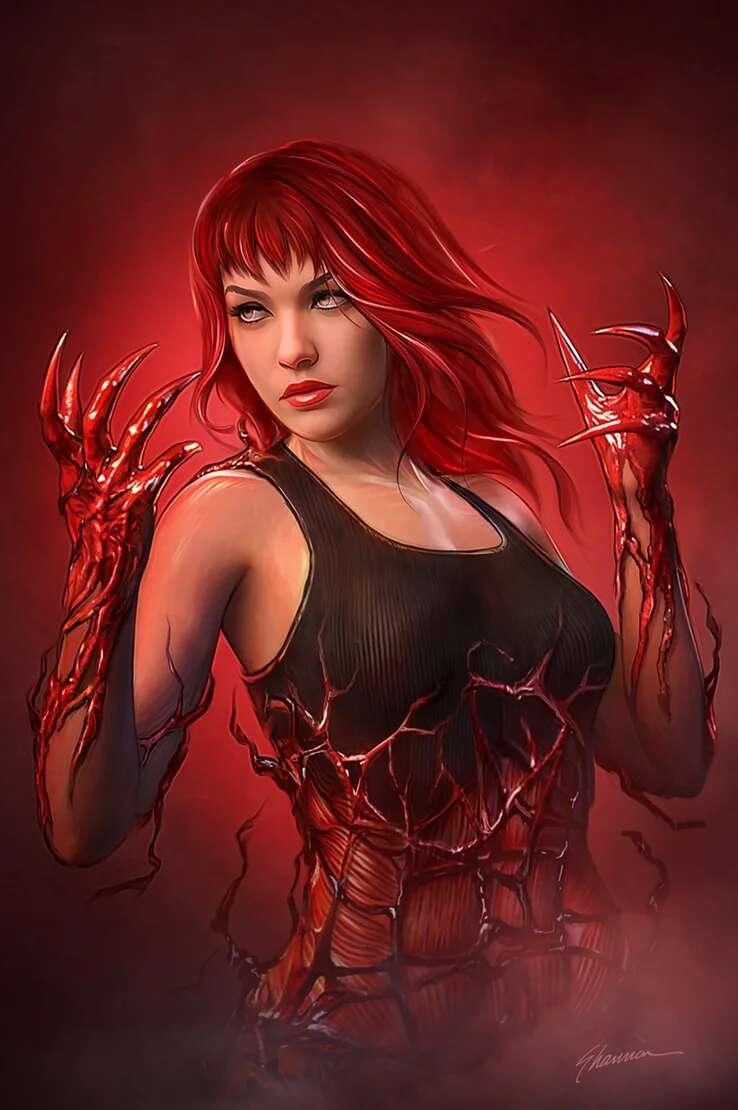 Carnage reclama a Mary Jane en la portada de Amazing Spider-Man Nº 30