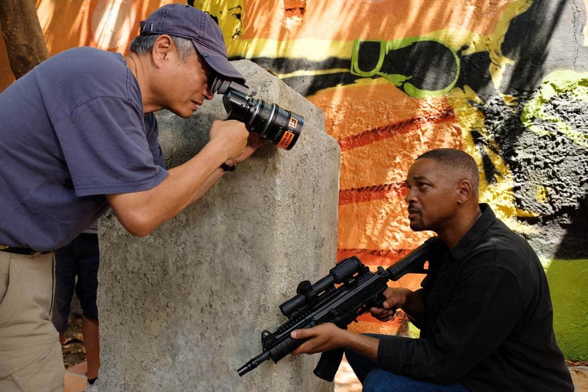 Ang Lee en el rodaje de Geminis junto a Will Smith