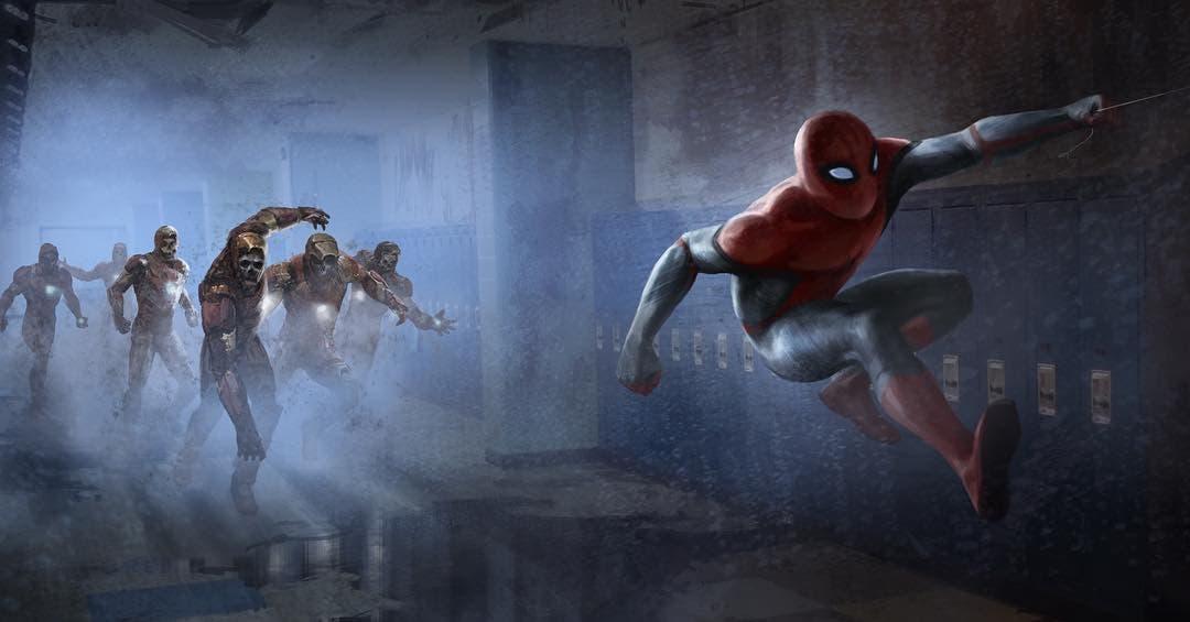 Concept art Tony Stark marvel zombies