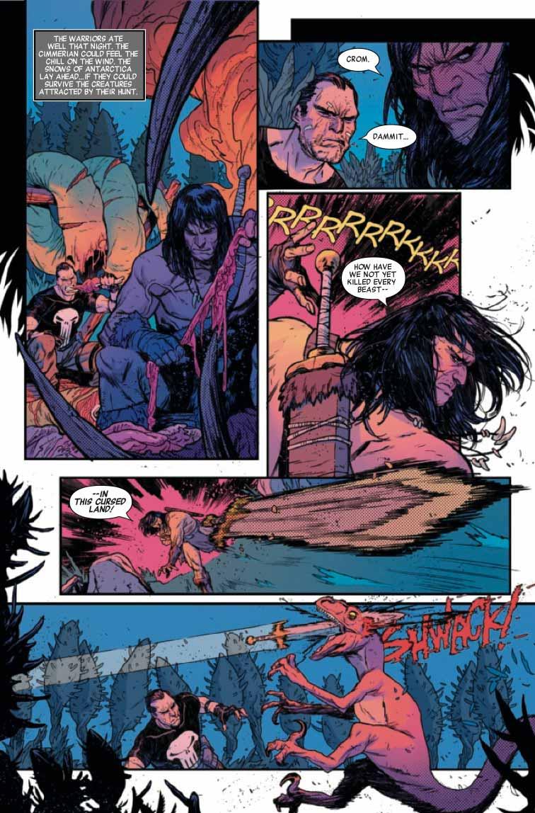 Punisher y Conan demuestran por qué son los vengadores más mortales