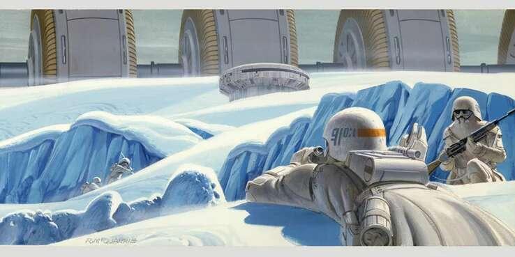 Star Wars Snowtrooper Concept Art Ralph McQuarrie Imperio contraataca