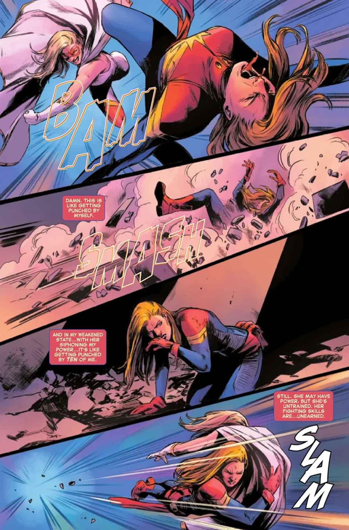 Capitana Marvel encuentra una adversaria más joven y fuerte que ella