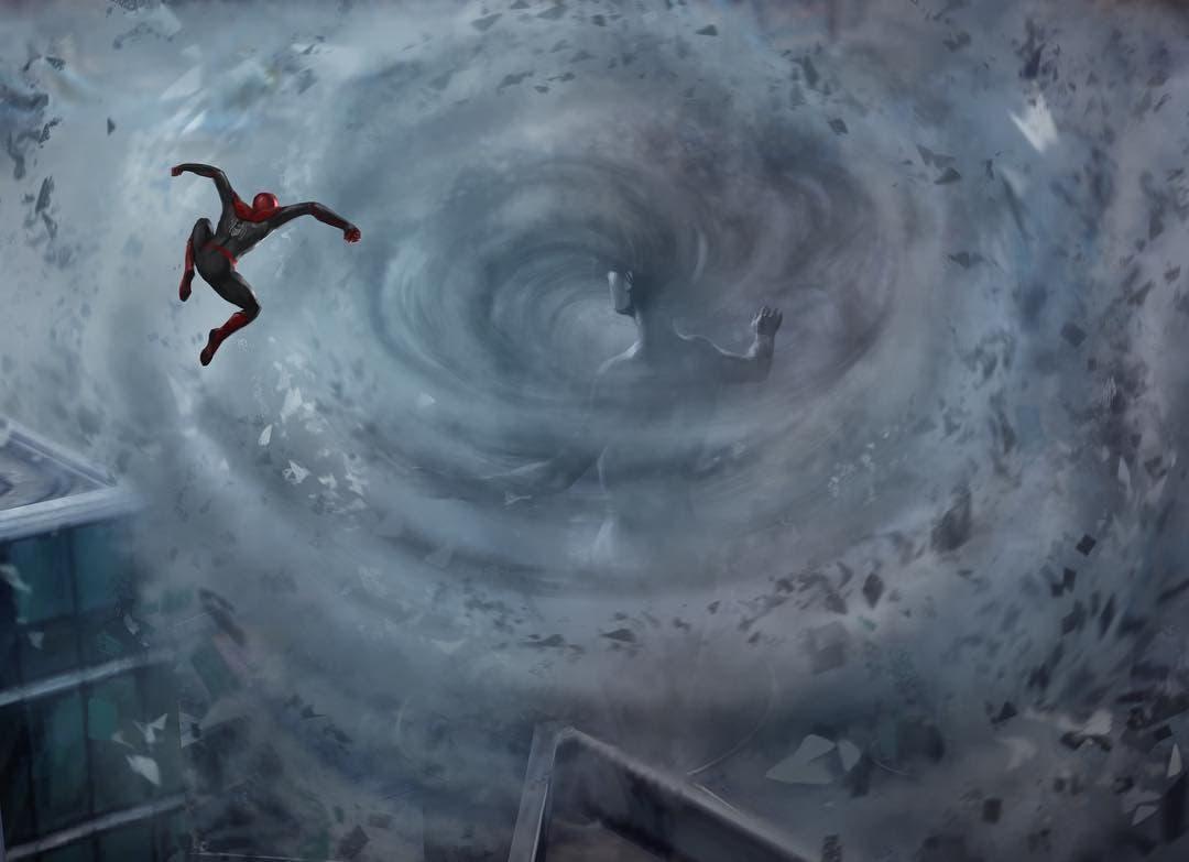concept art misterio spider-man: lejos de casa