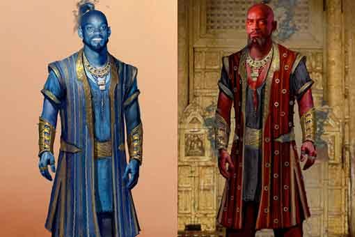 El Genio de Aladdin pudo ser muy diferente ¡Incluso rojo!