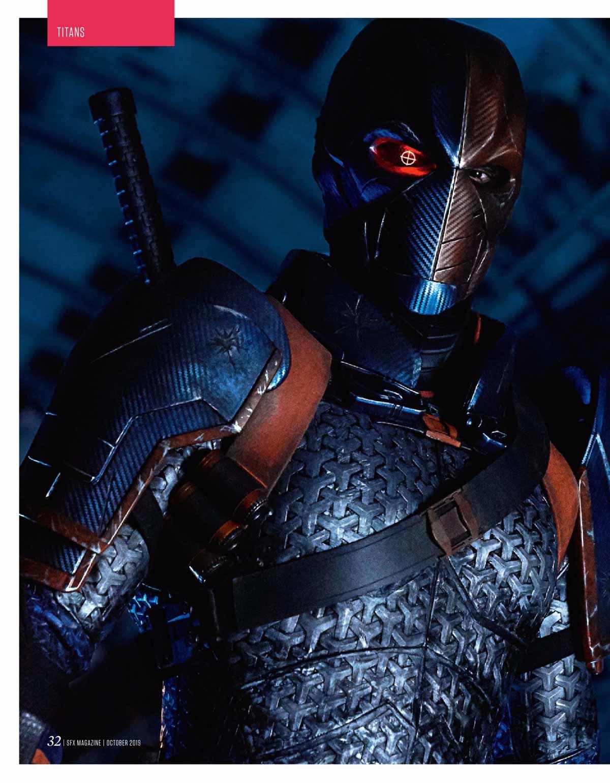 deathstroke Esai Morales en la segunda temporada de Titans