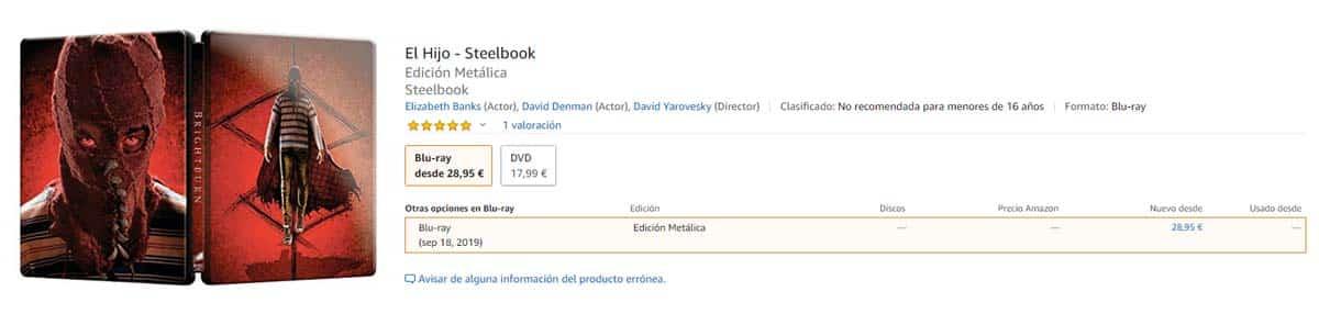 El hijo - Blu-ray Steelbook