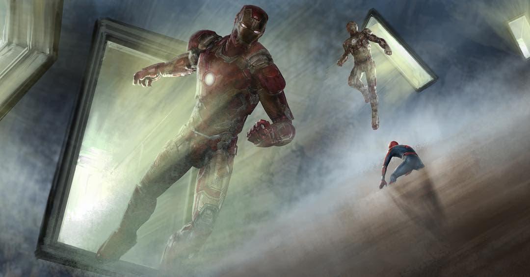 iron man spider-man lejos de casa