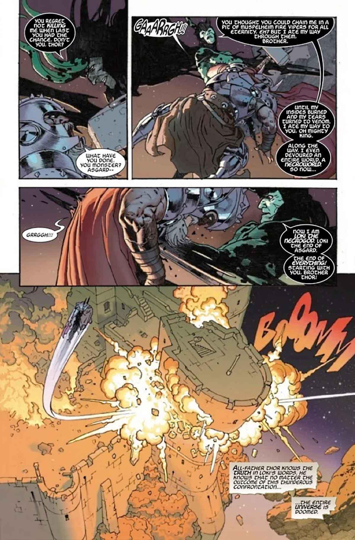 Rey Thor vs Loki será la mayor pelea de la historia de Marvel