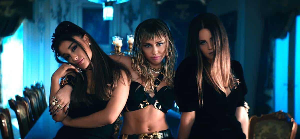 Ariana Grande, Miley Cyrus, y Lana Del Rey protagonizan el videoclip de Los Ángeles de Charlie