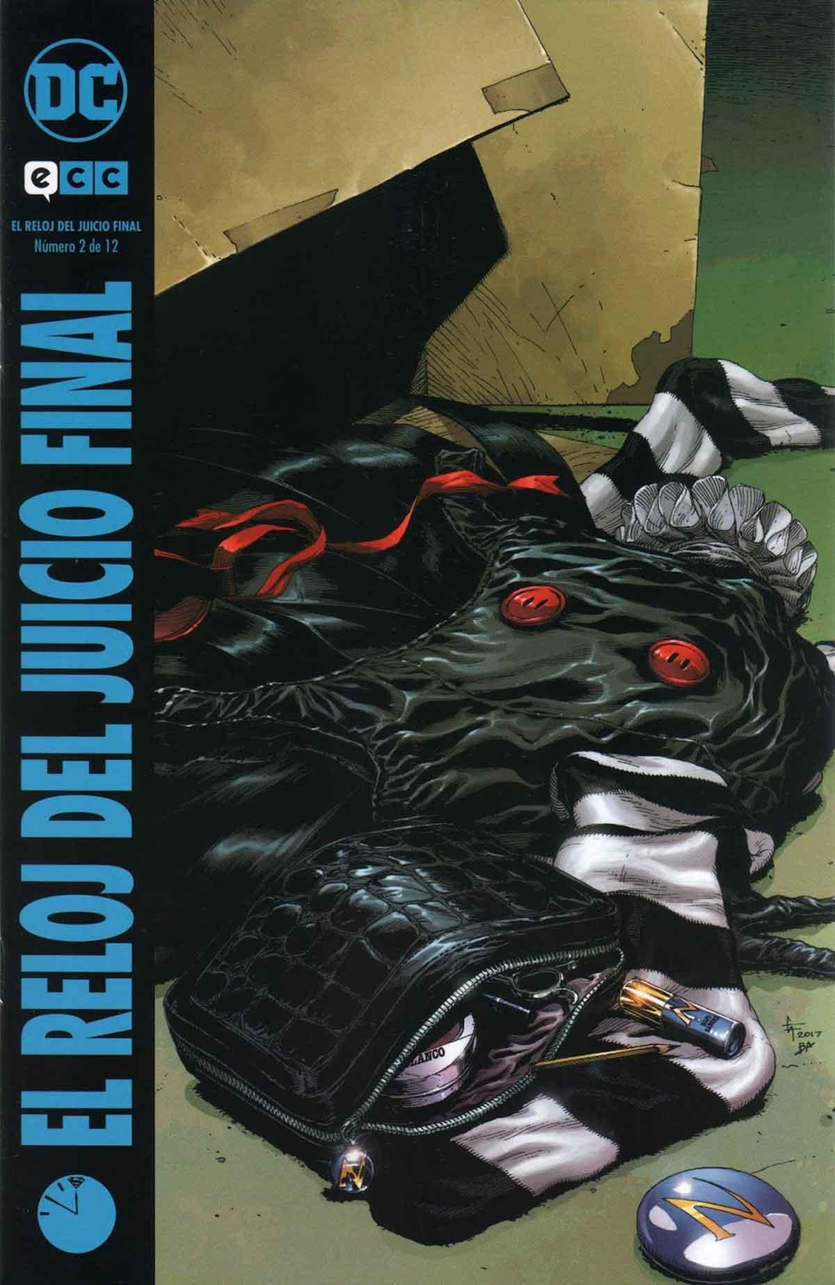 El reloj del Juicio Final 2. El objetivo principal de la serie toma cuerpo en esta segunda entrega, unificar ambos mundos, DC y Watchmen.