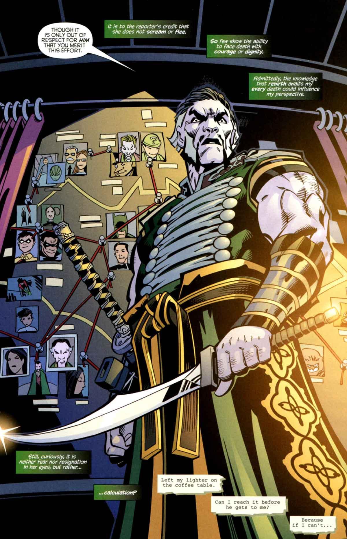 Ra's al Ghul lider de la liga de las sombras