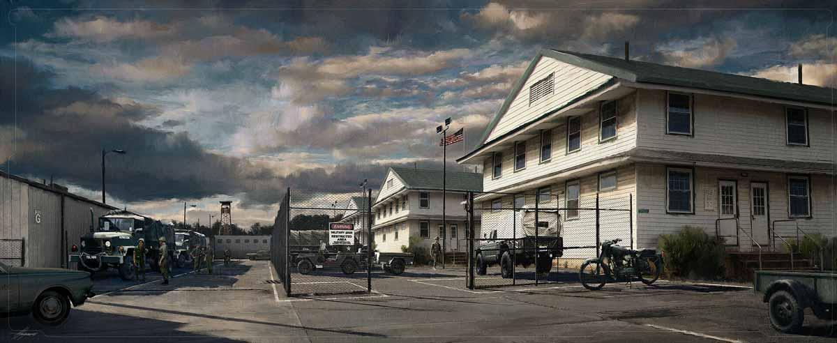 Cuartel militar en los años 70