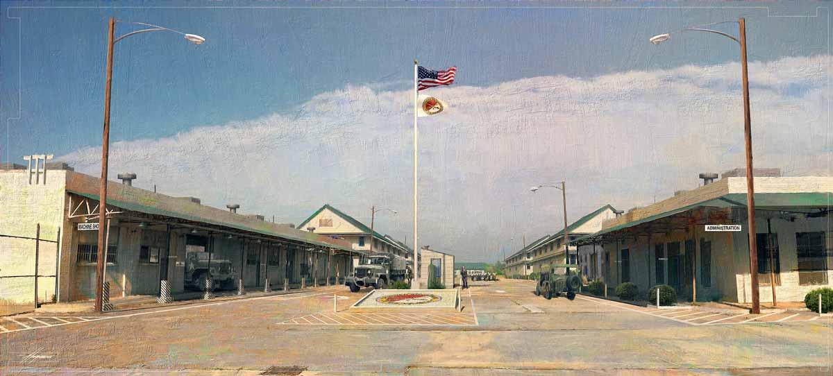 Cuartel militar años 70