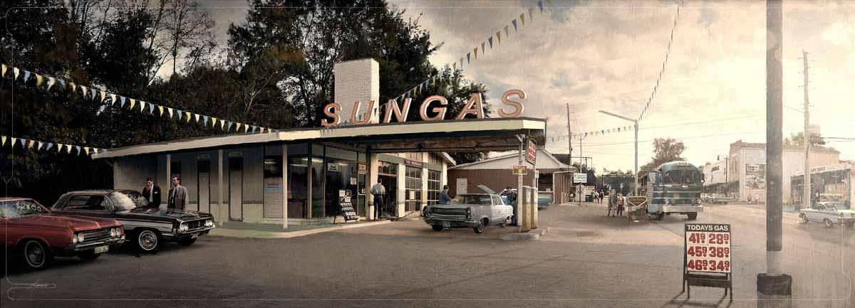 Gasolinera años 70