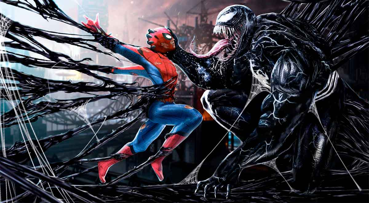 Marvel: Fan Art del Spider-Man de Tom Holland con el traje simbionte de Venom