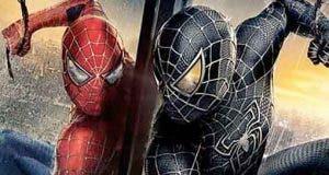 Fan Art del Spider-Man de Tom Holland con el traje simbionte de Venom