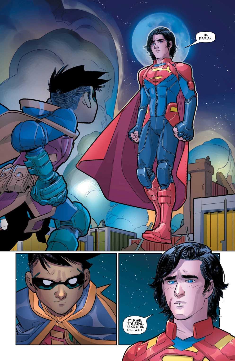 Reencuentro de Damian con Jon Kent, Superboy