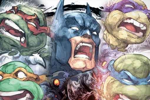 Batman y Las tortugas ninja se fusionan en un perturbador ser