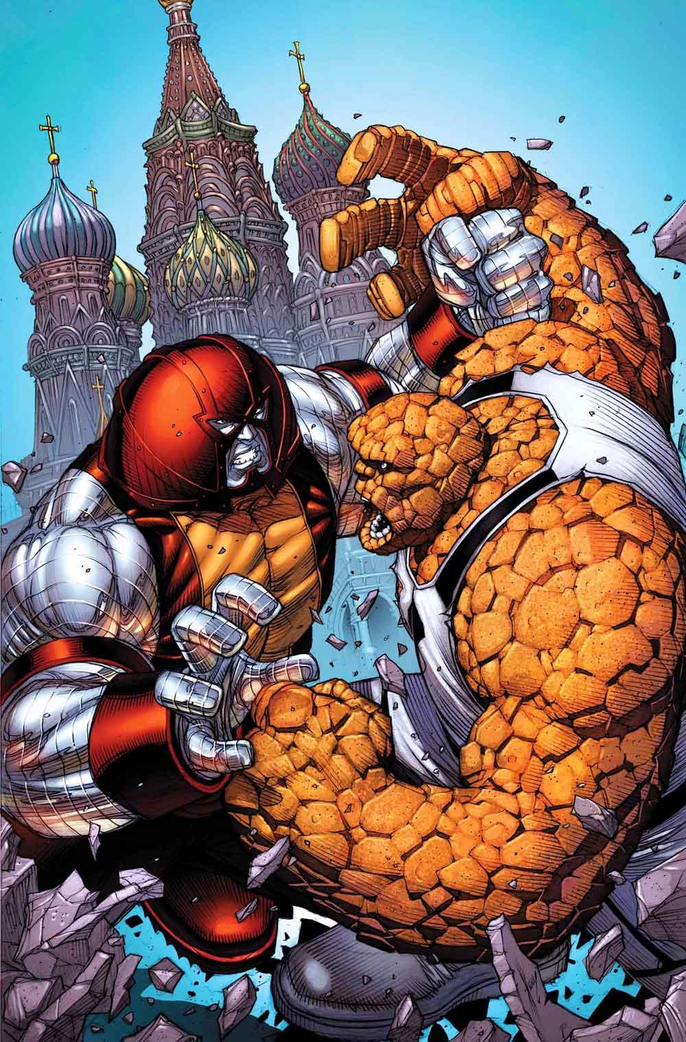 la cosa Los cuatro fantásticos vs Juggernaut