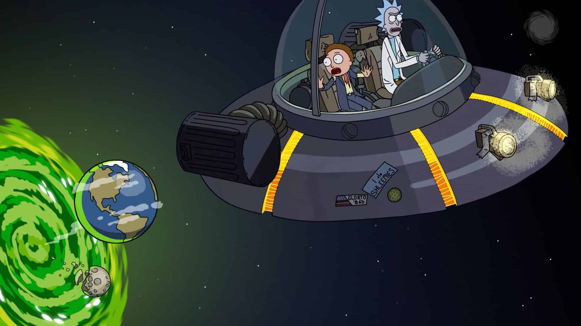 nave materia oscura rick y morty
