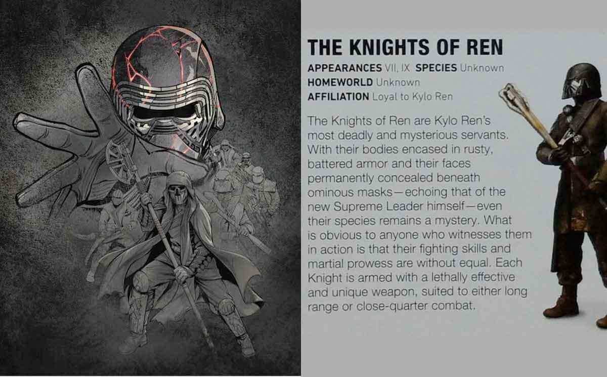 Star Wars 9 no contará mucha información sobre los Caballeros de Ren