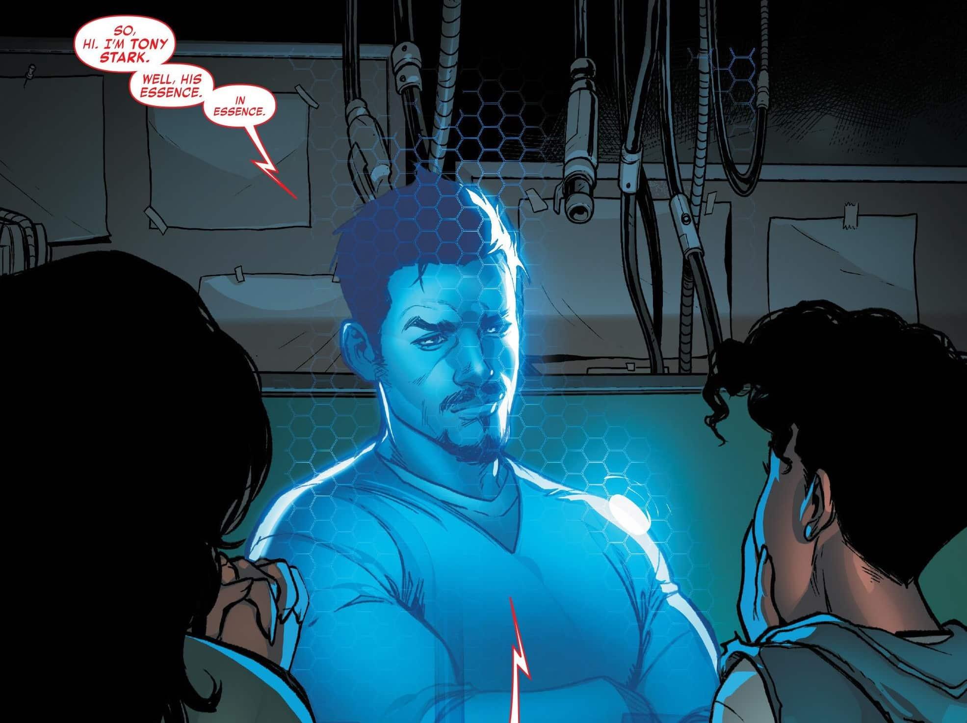 Vengadores: Endgame. Ia de Tony Stark en Ironheart