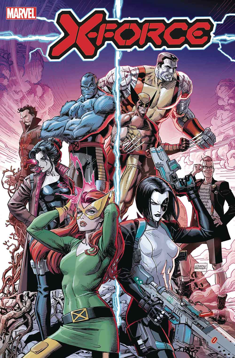 x-force Wolverine y bestia