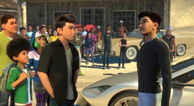 Fast & Furious: Spy Racers, Cisco, Echo, Frostee, Tony y Shashi