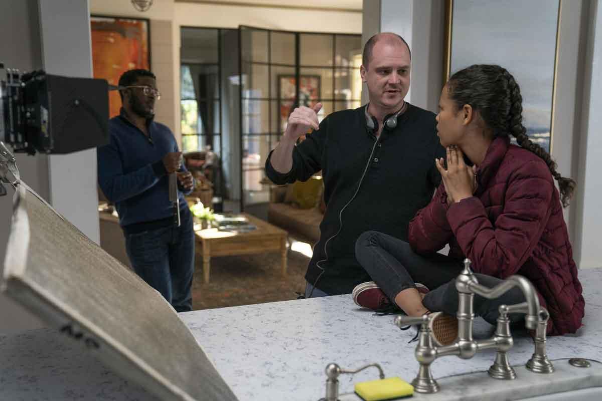 Mike Flanagan en una imagen del rodaje de Doctor Sueño