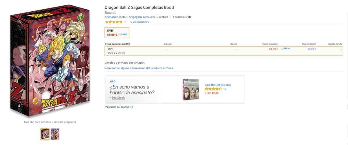 Dragon Ball Z Sagas Completas Box 3