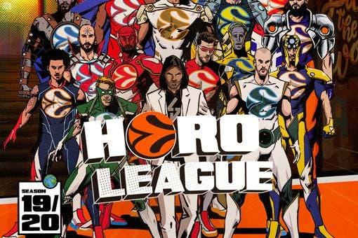Euroleague Heroleague . La nueva campaña de la mayor competición europea de baloncesto convierte a 18 jugadores en héroes de animación creados por el dibujante español Fernando Blanco