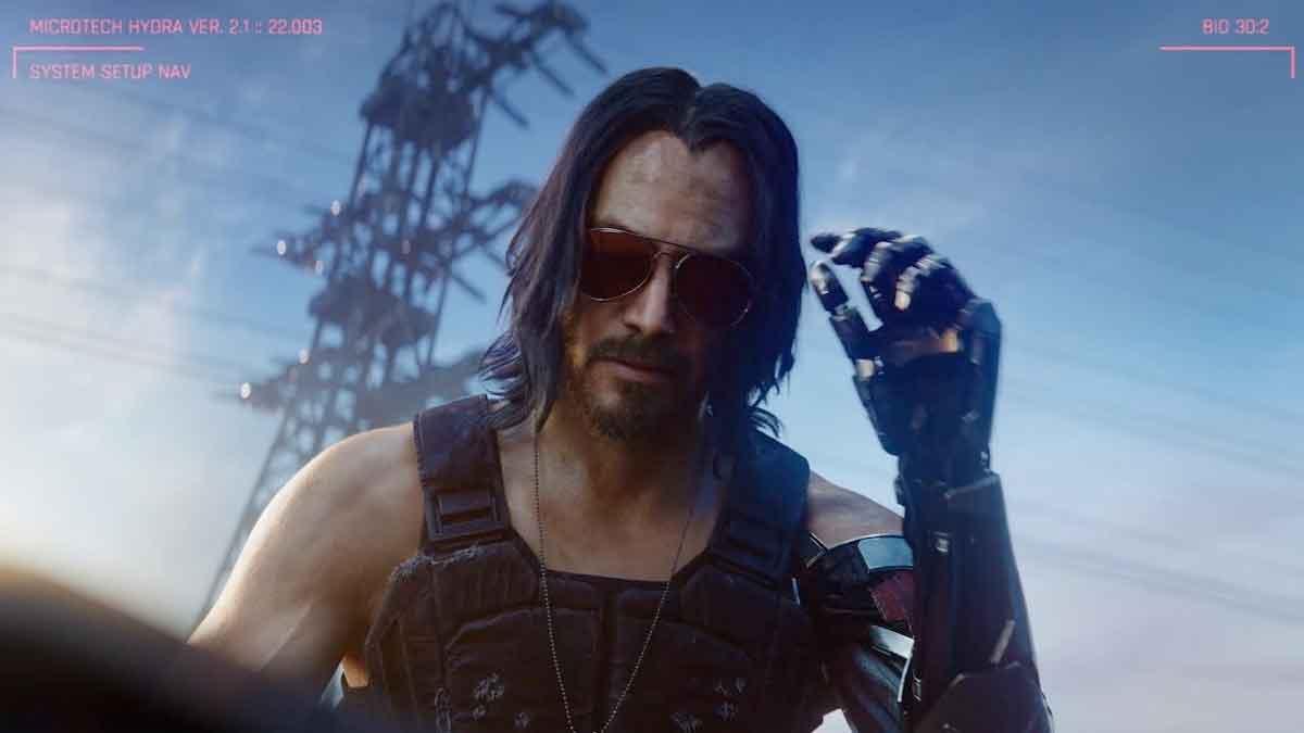 Keanu Reeves duplicó el tiempo de su personaje en Cyberpunk 2077