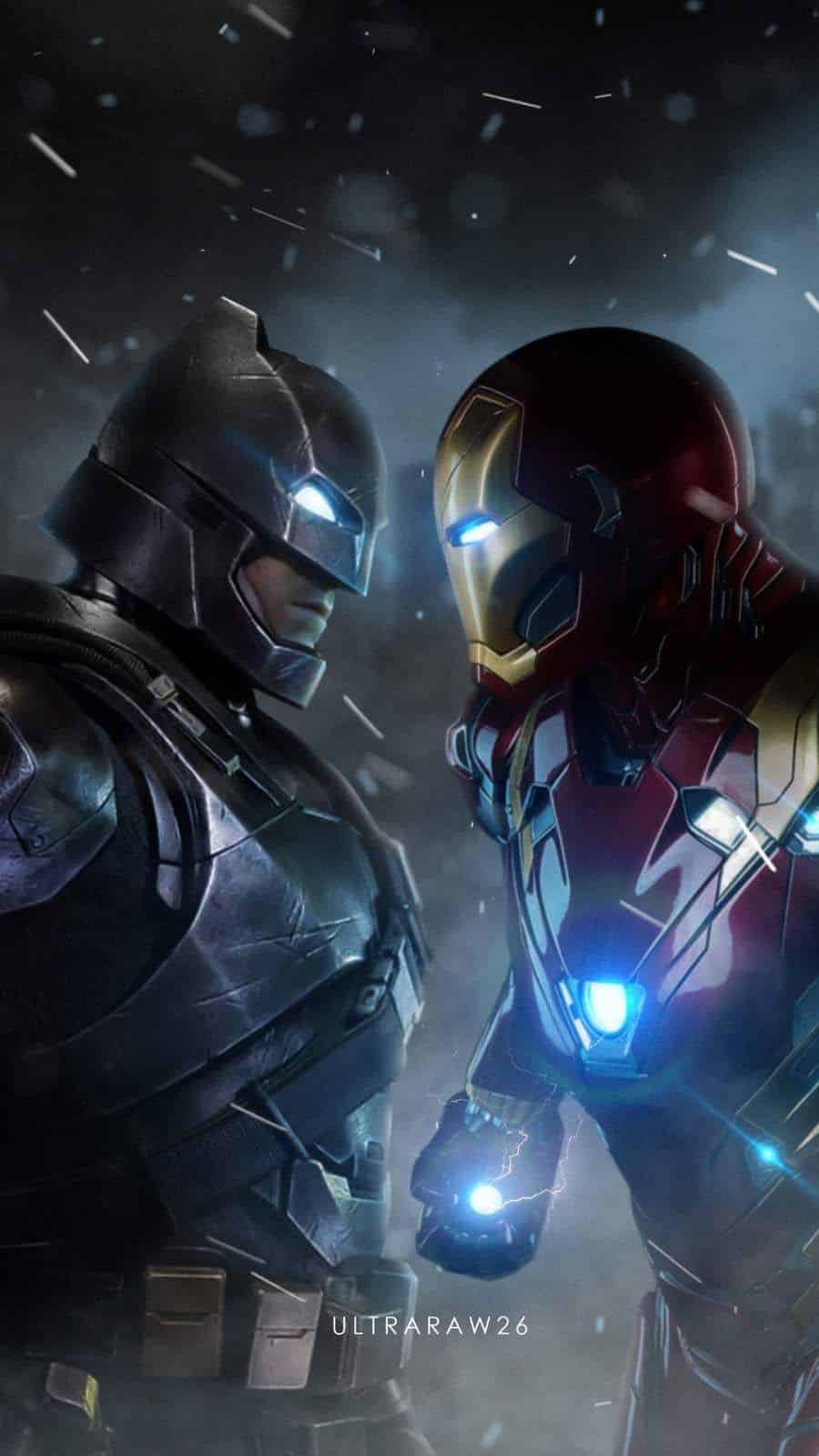 cine de superhéroes batman vs iron man