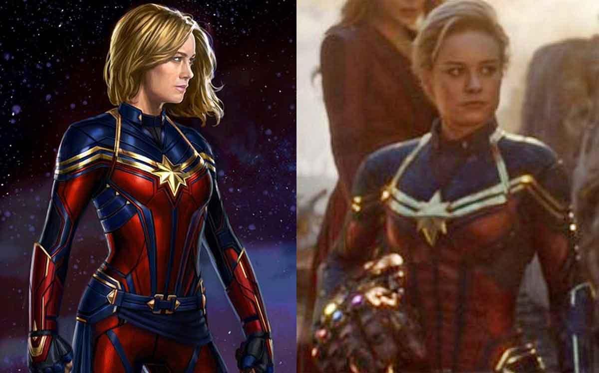 Concept Art de Vengadores: Endgame del traje de Capitana Marvel