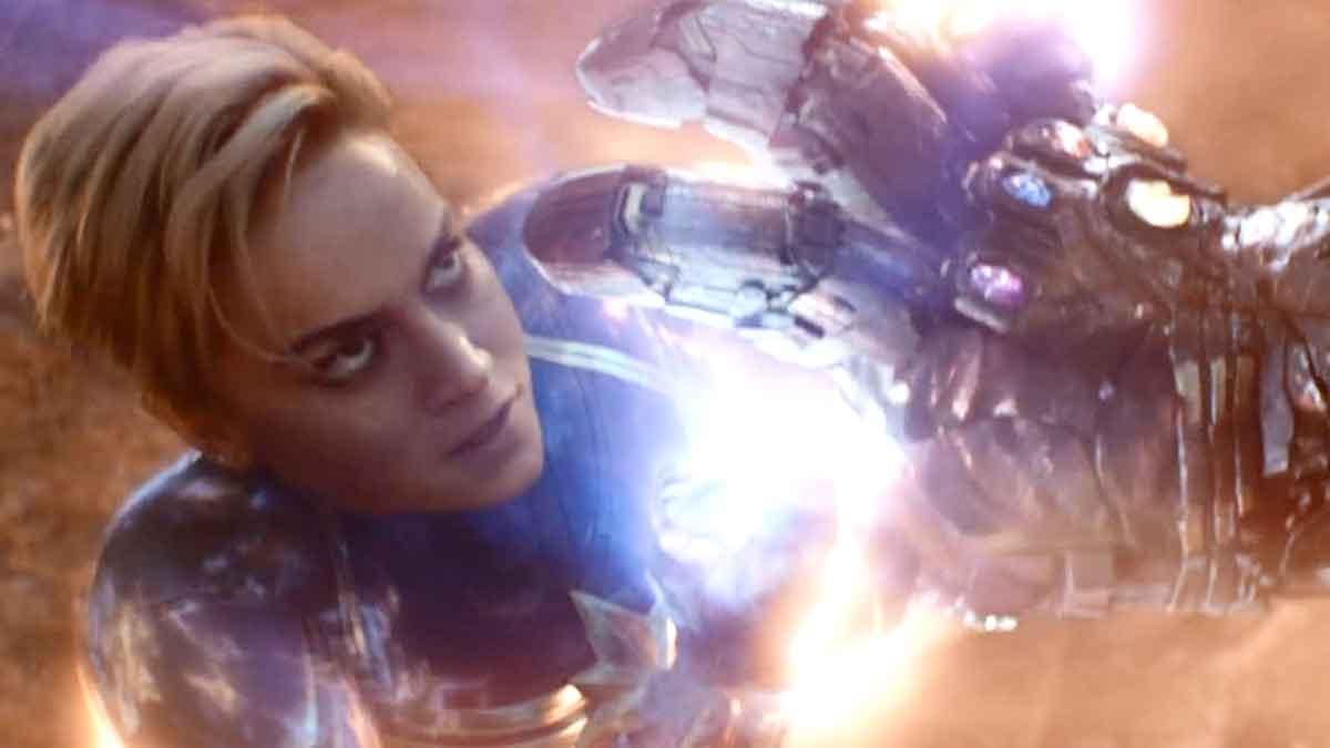 La pelea final del Capitana Marvel con Thanos cambió en el último minuto