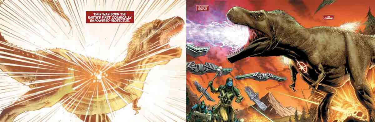 Marvel confirma que el primer superhéroe fue un dinosaurio