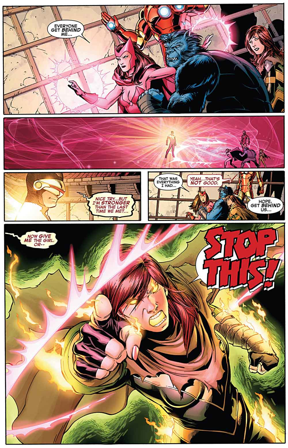 x-men: hope summers uses chaos fist-on phoenix five cyclops