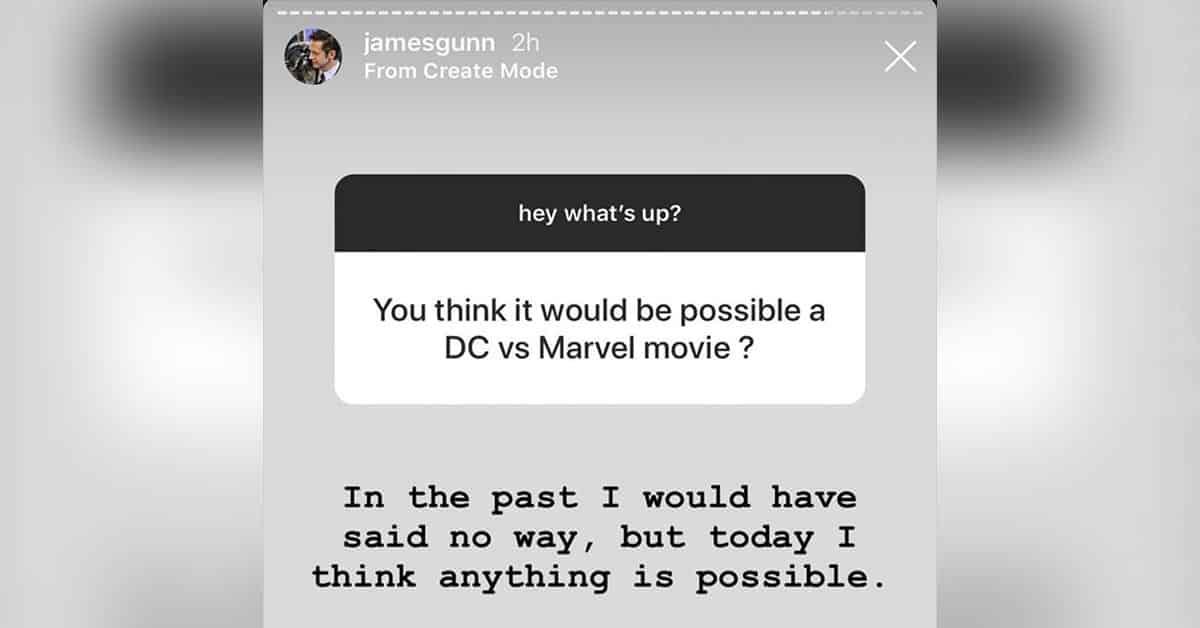 James Gunn cree que una película Marvel vs DC es muy posible