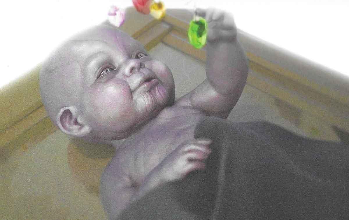 "Aspecto del ""Baby Thanos"" en Vengadores: Infinity War"