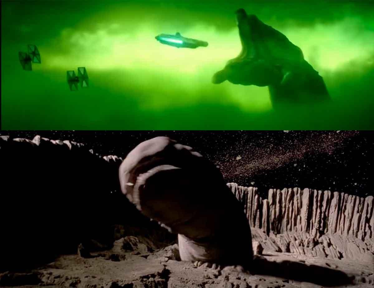Un gusano espacial en el nuevo tráiler de Star Wars 9